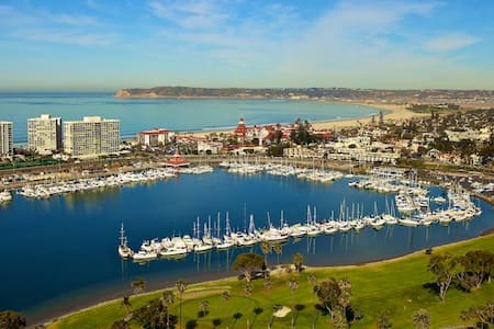 Views of  Bay and san Diego skyline.This luxurious and professionally staged home contains wonderful décor.Hardwood floors, stainless steel appliances, chefs gourmet kitchen, double ovens, dishwasher and granite island. Open staircase to mastersuite.