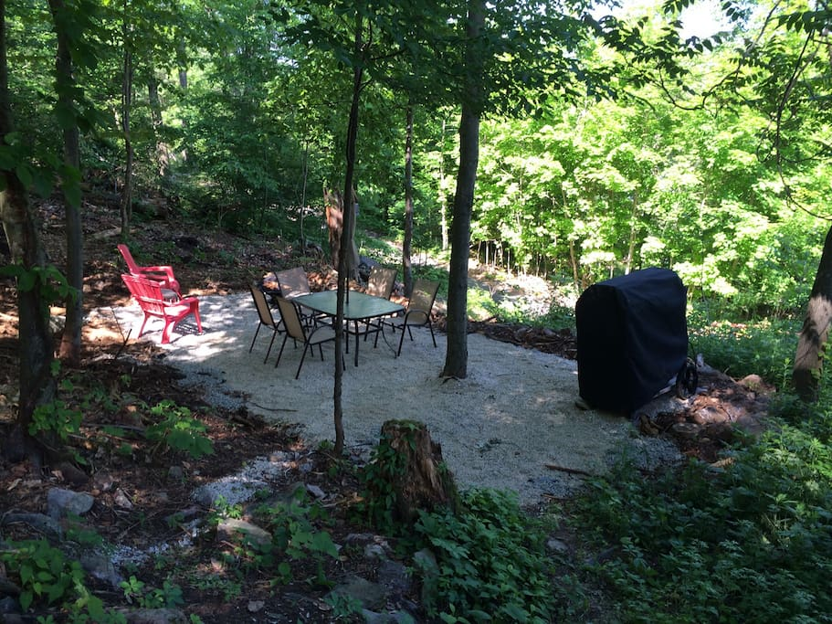 Private Space on the hill for BBQ and Fire pit