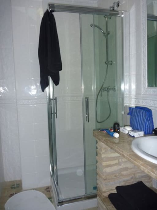 Bath rooms have showers and toilets.