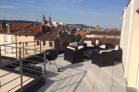 Grand appartement avec terrasse. - Nancy - Apartment