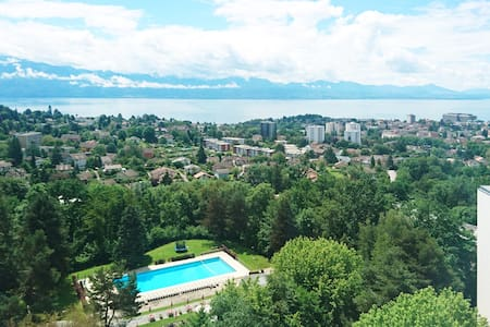 Panoramic View of Lausanne - Flat