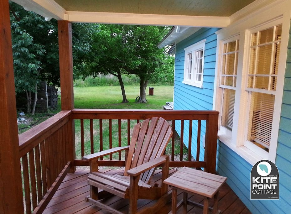 New deck and classic porch swing.