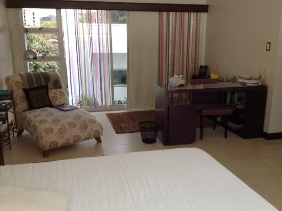 una del dormitorio