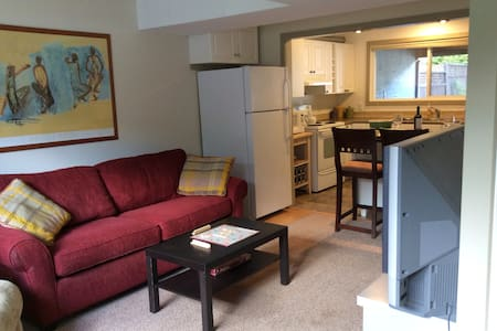 Beautiful 1 bed Suite/no clean fee - House