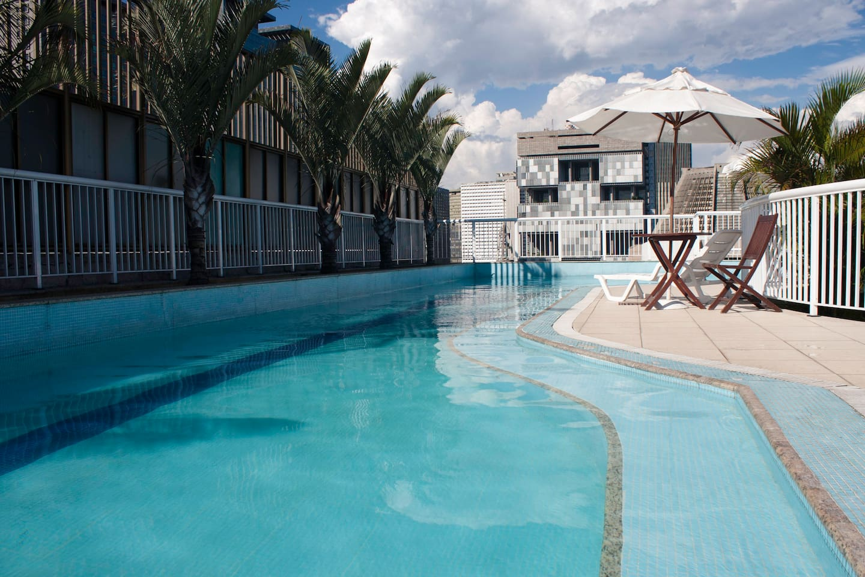 Amazing 22 metres swimming-pool + incredible view.