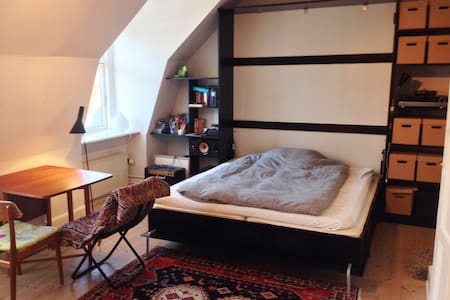 Small rooftop apartment in Nørrebro