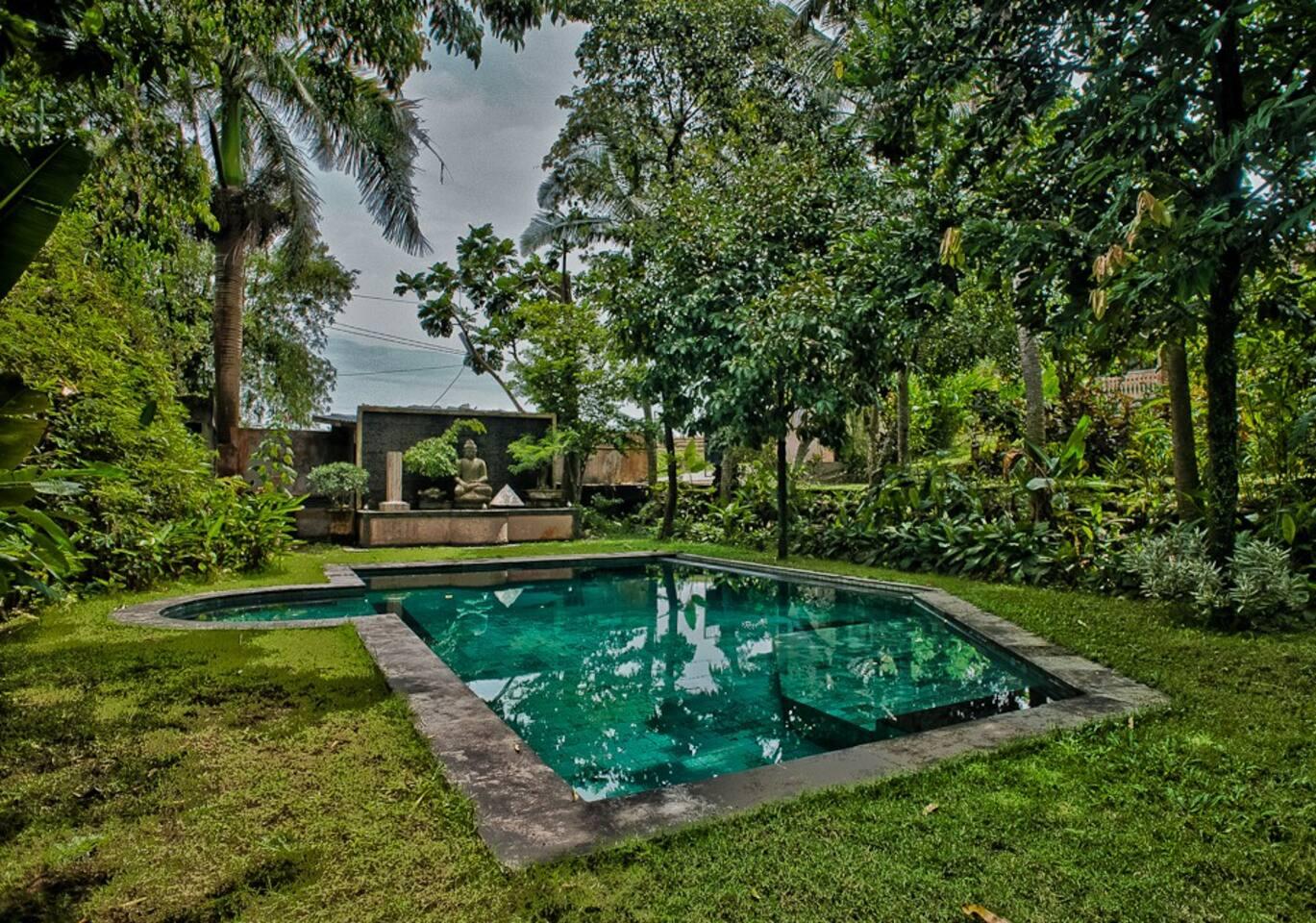 Unique balinese tropical paradise