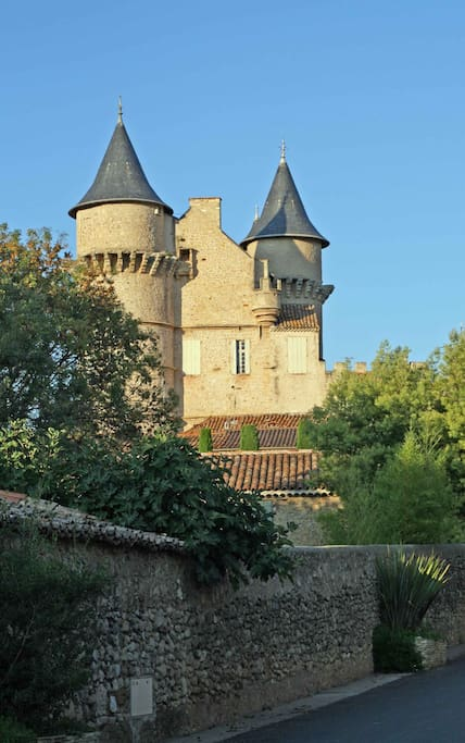 Château Margon - the old village encircles this beautiful château