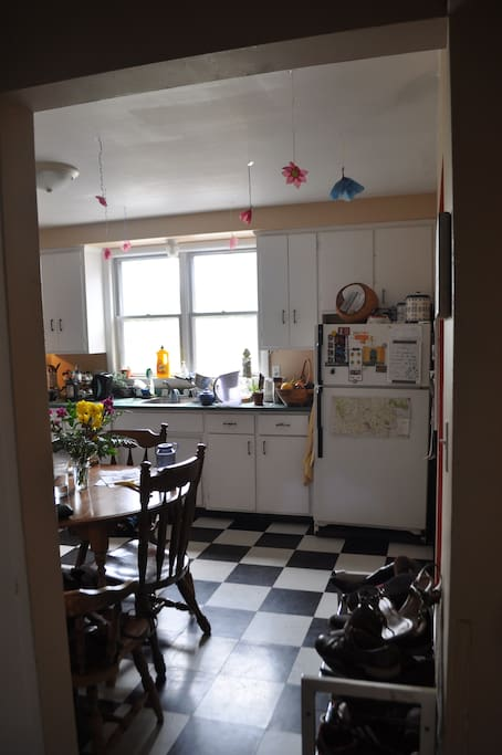 lot's of fridge space and fully equipped kitchen.