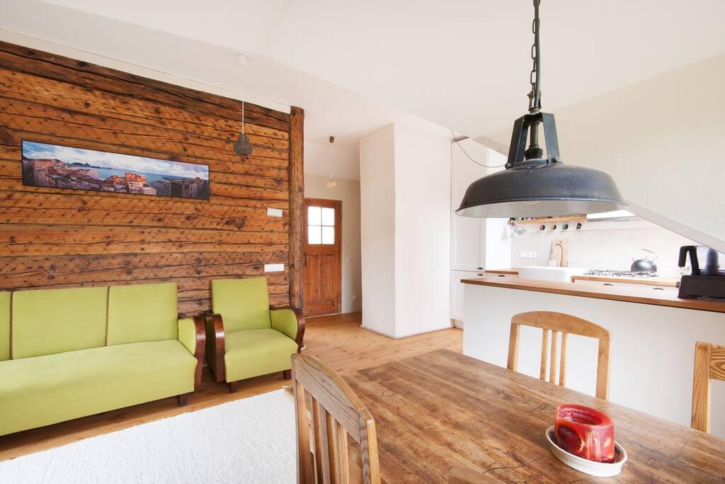 Bohemian loft in a wooden district
