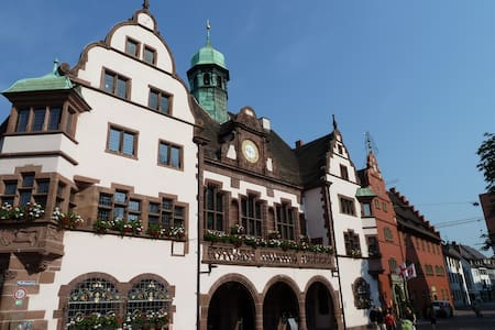At historic Townhallsquare Freiburg - Apartamento