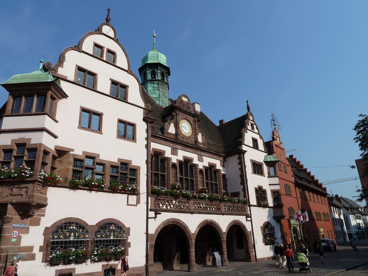 Neues und Altes Rathaus direkt neben der Wohnung/ New and Old Townhall next to your apartment