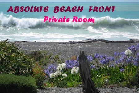 Absolute Beach Front Private Room - Napier - Haus