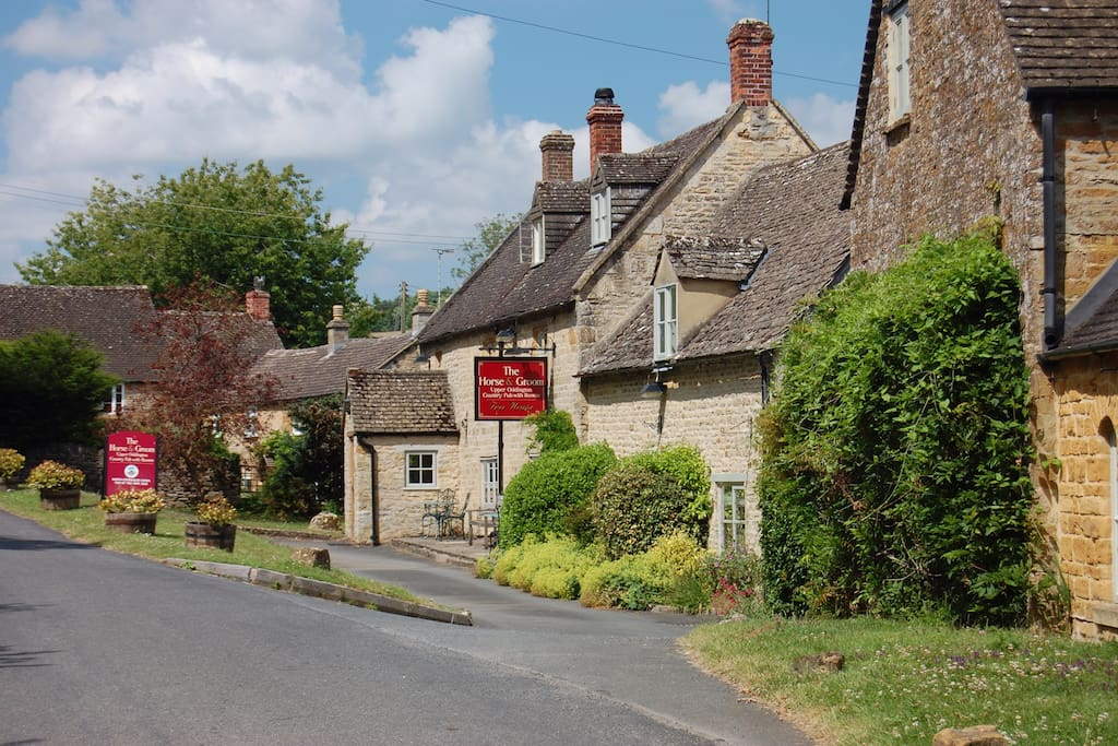 The Horse and Groom Inn next door. A great, quiet country pub.