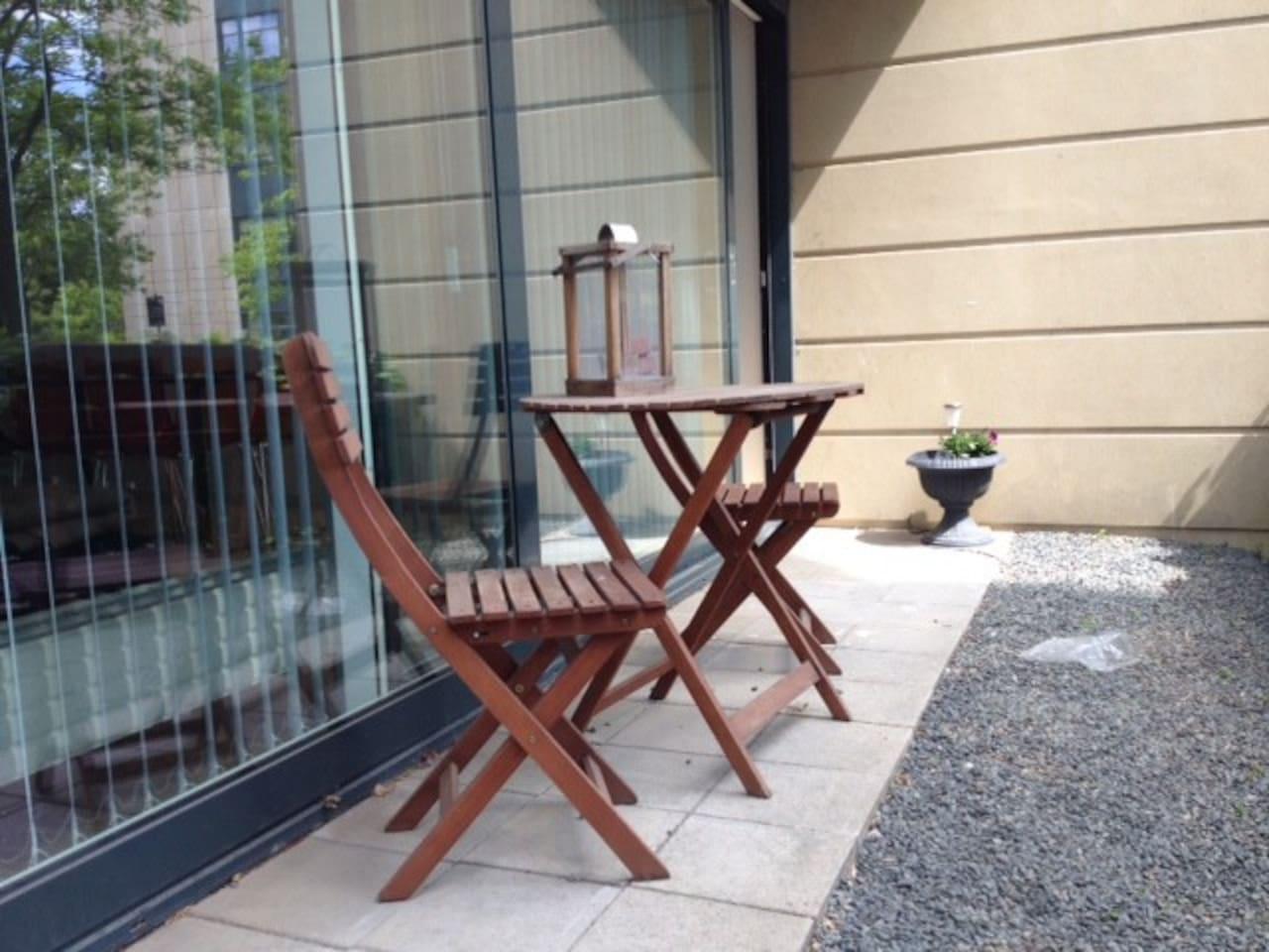 Private terrasse