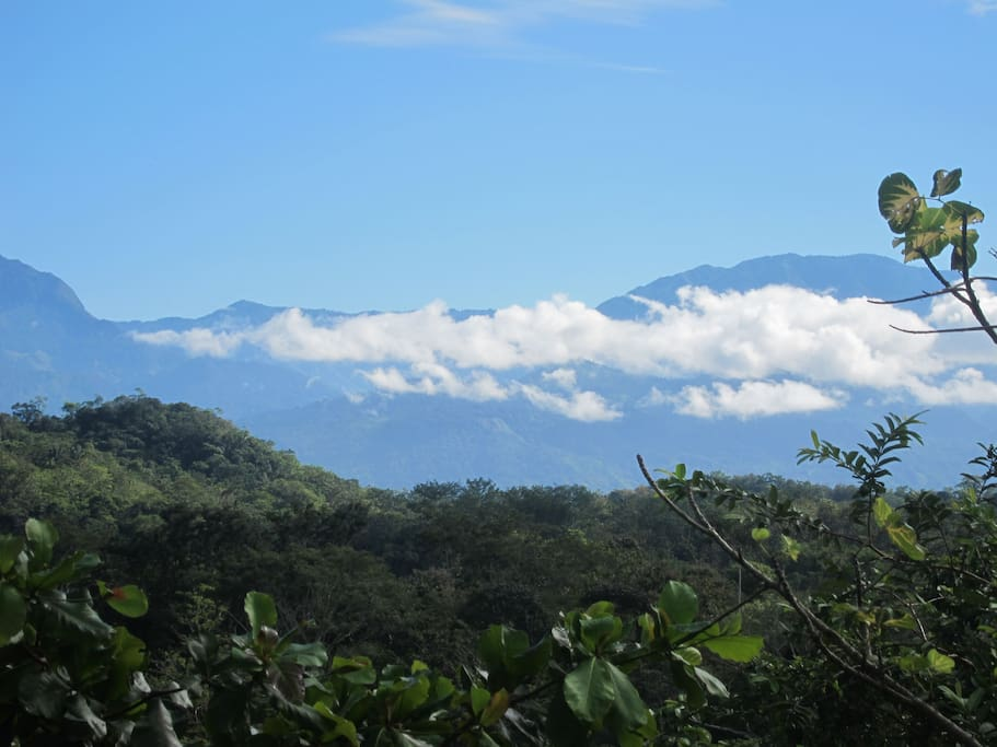 View of the mountains from the Casa.