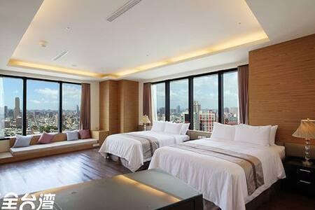 高雄85大樓寒舍-雙市景六人房 - Apartment