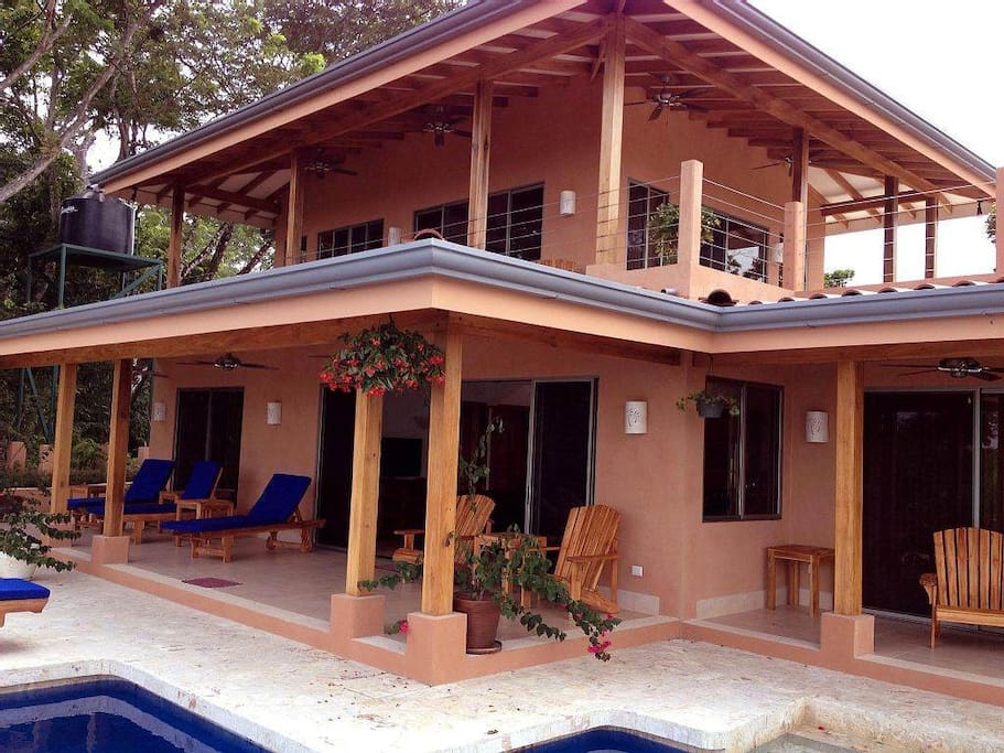 Many covered patios make an ideal site for small yoga retreats!