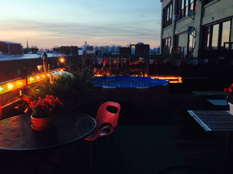 An absolute treasure- stunning city views with an outdoor garden terrace and POOL!