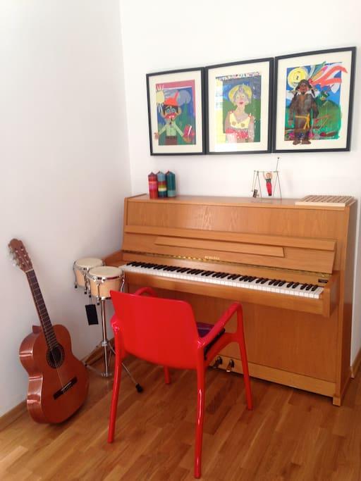 Musik-Ecke im Wohnzimmer