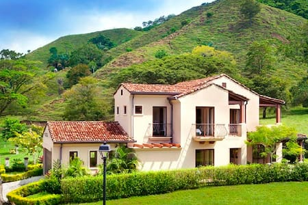 """The Villa is located in a Gated Community called """"La Estancia"""", right in front of Los Suenos Resort and Marina and next to Punta Bocana at Herradura, Central Pacific of Costa Rica.  The 2 floors Villa has 3 bedrooms and 3.5 bathrooms."""