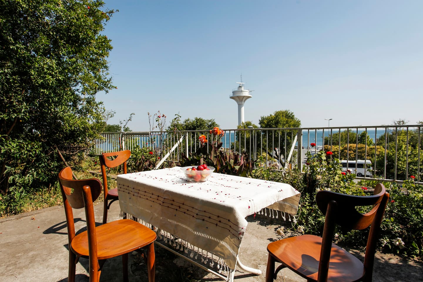 Enjoy the view of Bosphorus and the Marmara sea.