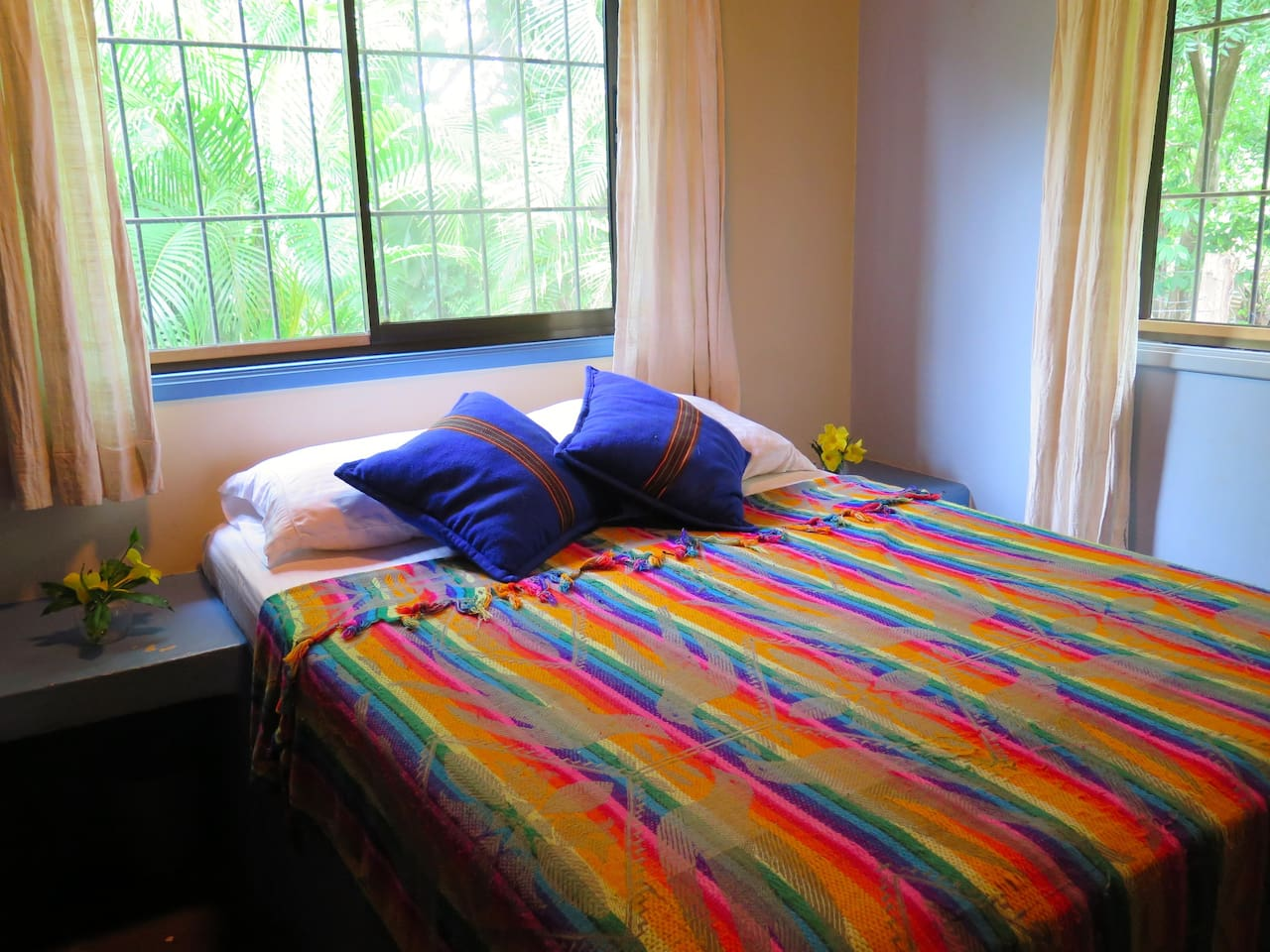 Queen size bedroom with AC