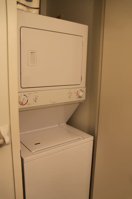 En-suite washer and dryer