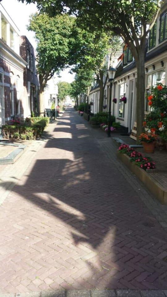 lovely streetvieuw. middle in the centre of Zandvoort aan Zee
