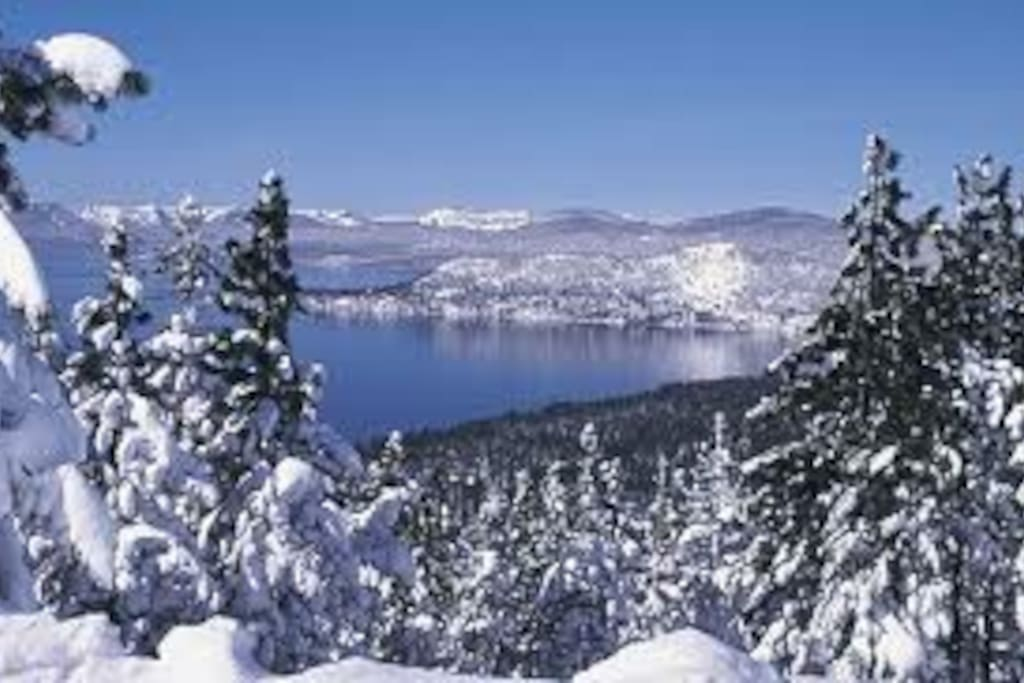 Beautiful view of Lake Tahoe in the Winter~A place to be enjoyed in any season!!!