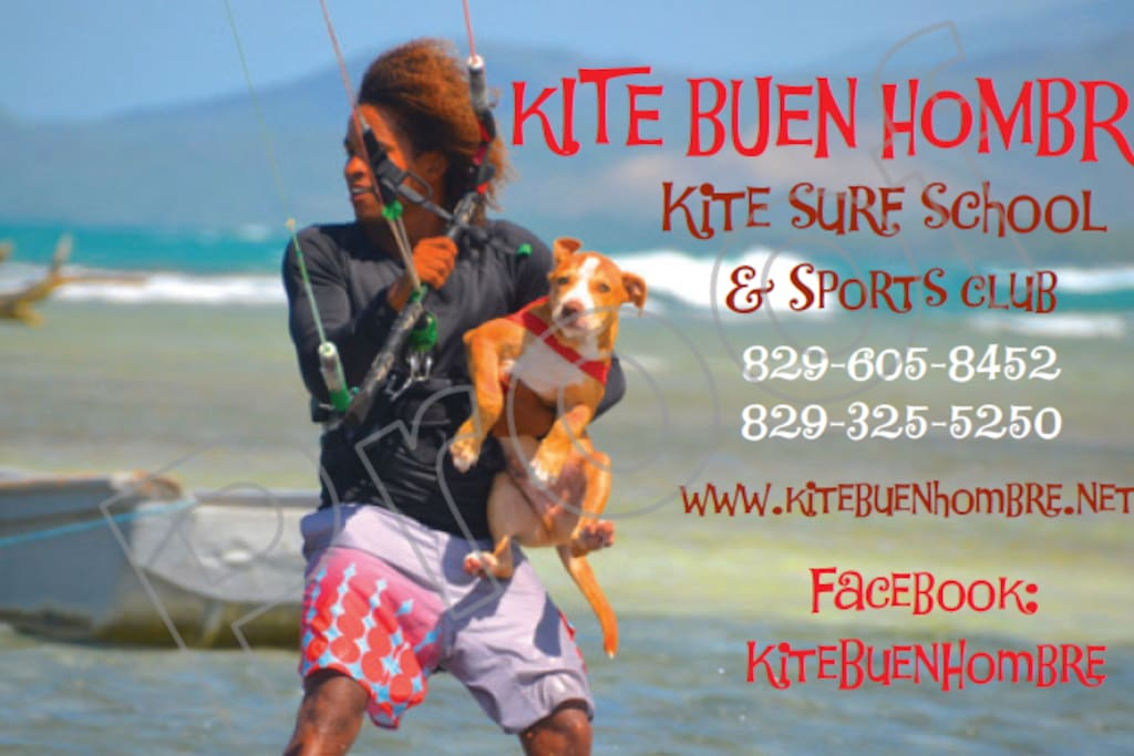 Buen Hombre Kite Camping, School Hotel on the beach