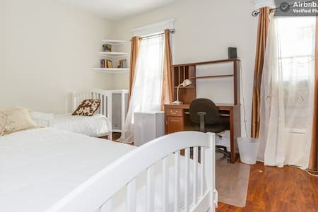 The house is located five minutes walk to the train station, which takes you directly to Manhattan . Easy access from  JFK Air train system. Transportation from JFK or La Guardia Airport is $35.00