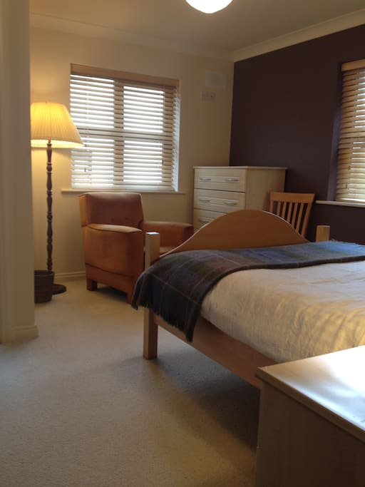 Bedroom no.1, double bed with a bathroom en suite. Plenty of storage. Cosily furnished.
