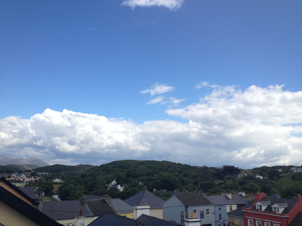 Fantastic views from bedroom no.4 overlooking Clifden Town and Connemara