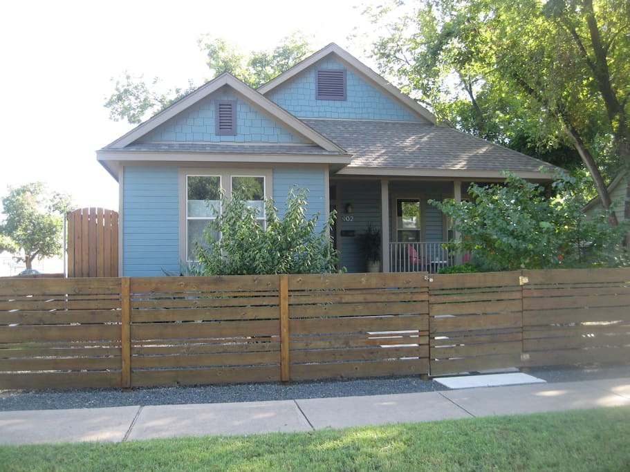 Upscale bungalow with spacious covered front porch.