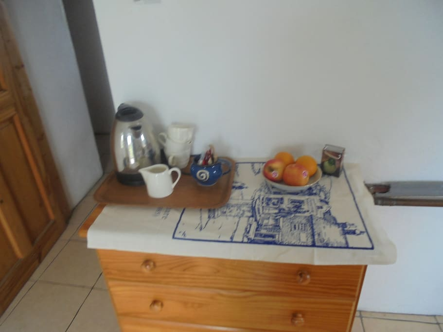 tea tray in bed room