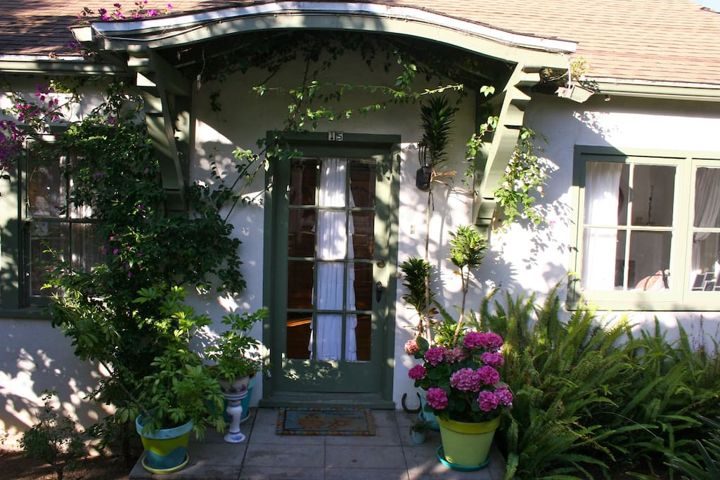 Front of the cottage. I love the flowers in spring & summertime!