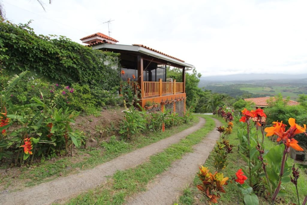 View of the Casita from driveway above