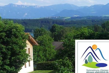 Ferienwohnung Simssee-Alpenblick - Söchtenau-Untershofen