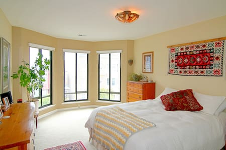 Nopa spacious bedroom with a VIEW!