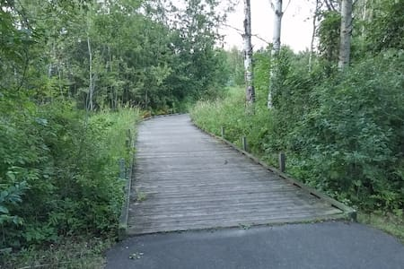 Close to miles of nature trails, dog friendly - House