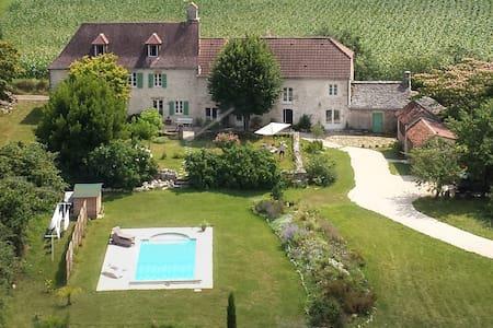 La Bruyle B&B de charme chambre Sabias - Saint-Michel-de-Bannières - Guesthouse