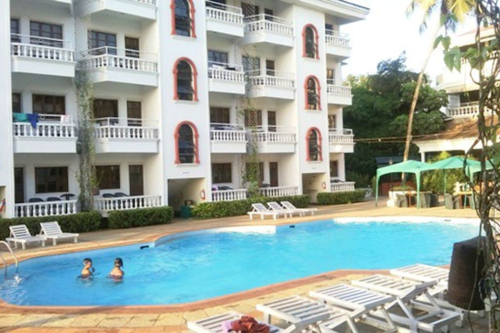 FROM BALCONY VIEW SWIMMING POOL