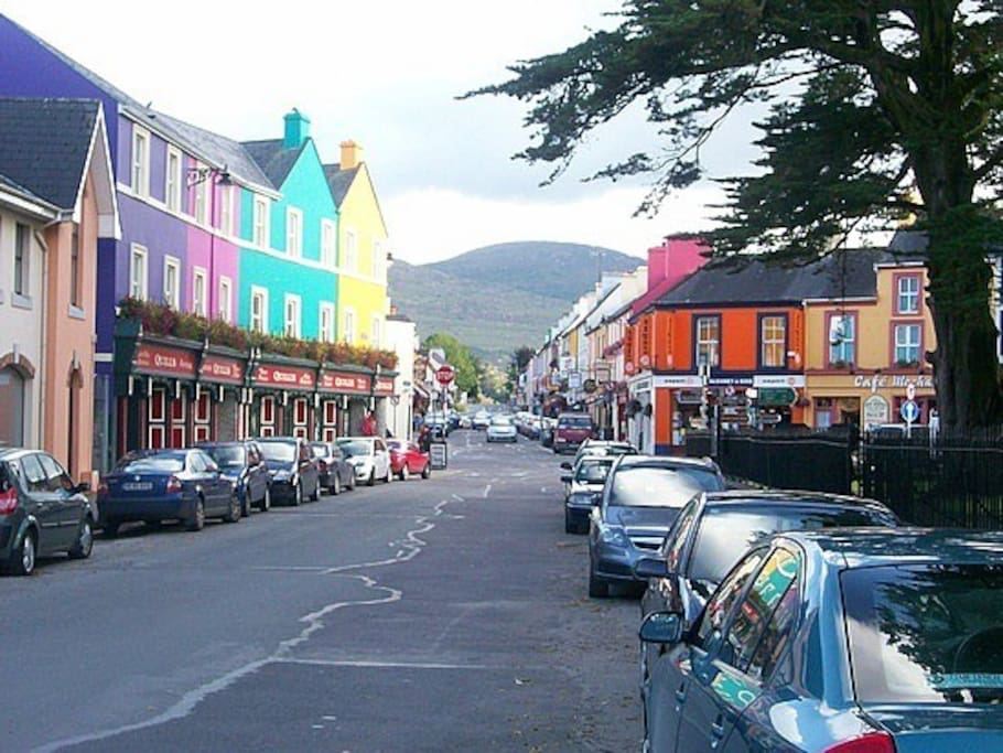 This is the road from our House to the centre of Kenmare