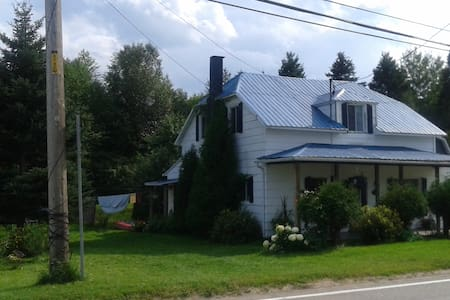 La maison au toit bleu - L'Anse-Saint-Jean - Haus