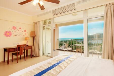 三亚湾那片海海边度假公寓+阳光海景大床房1晚(精装厨房+阳台浴缸+海坡度假区+生活交通方便离海近 - Flat