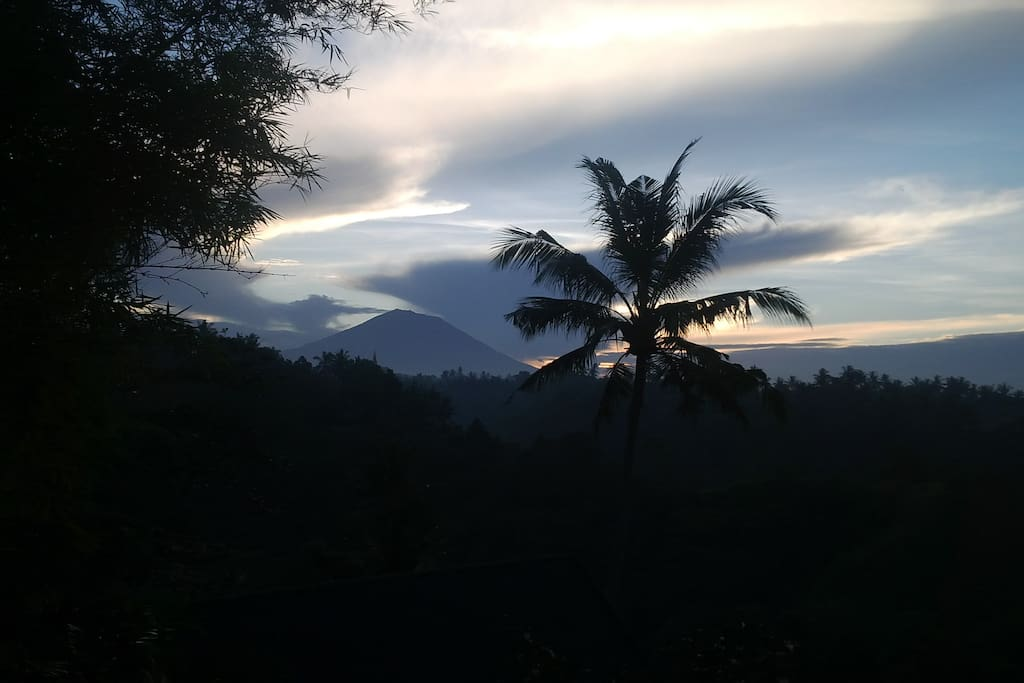 Early bird view of Mount Agung
