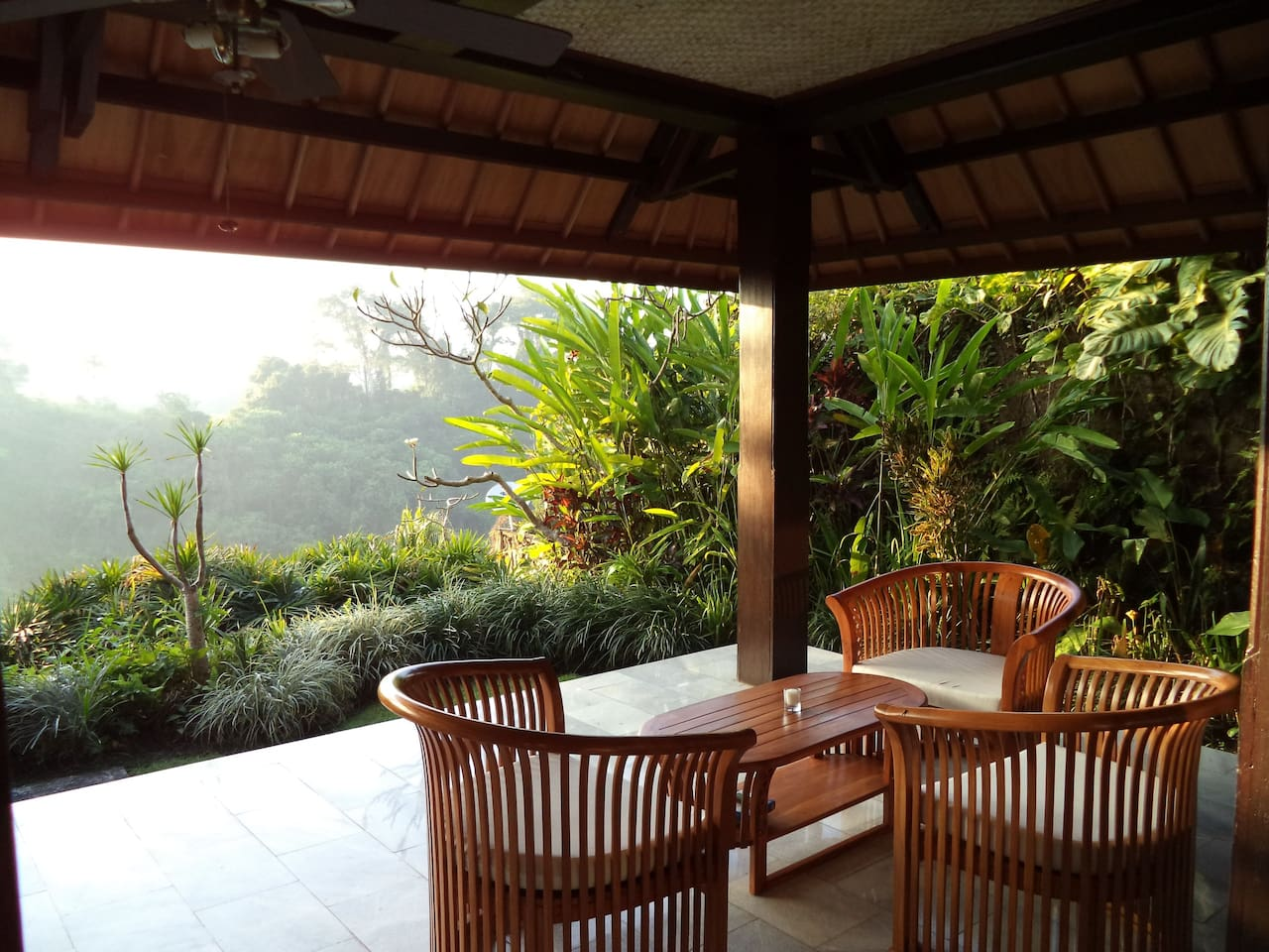 Private verandah and small garden, worlds away