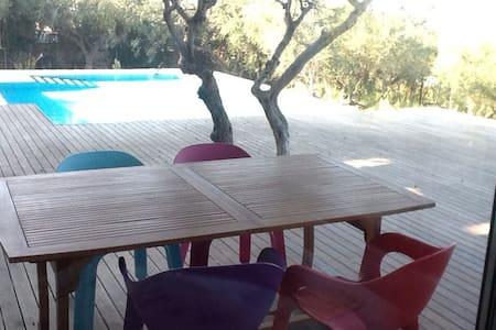 Δωμάτιο - πισίνα - θέα γέφυρα ριου - Hus