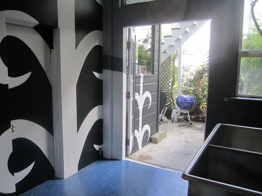 Striking murals and artwork throughout the space